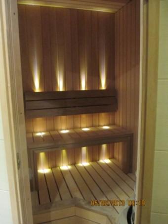 Свет в сауне, подсветка, установка освещения бани